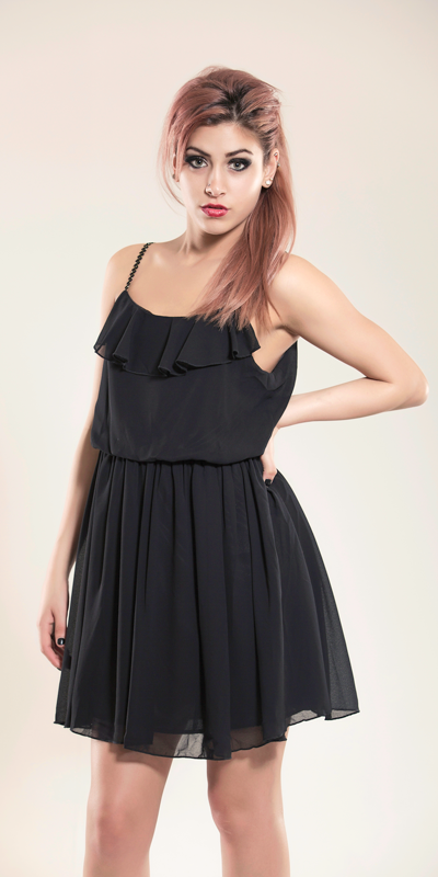 Beverley Ruched Black Dress