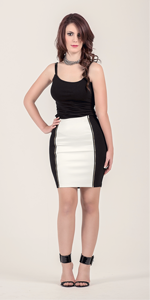 Double Zip PU Mini Skirt