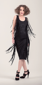 Hubble Black Tassel Dress