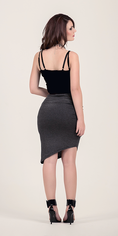 Frida Ruched Grey Skirt