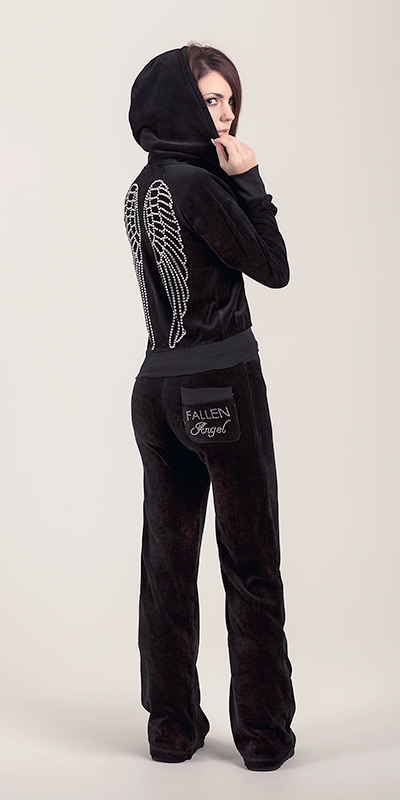 Angel Wing Black Tracksuit