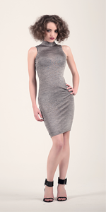 Juliette Studded Marl Midi Dress