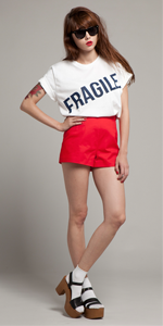 White Fragile T-Shirt