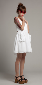 White Pocket Imogen Dress
