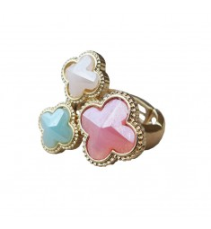 Pastel Clover Ring