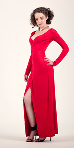 Wrap Red Maxi Dress