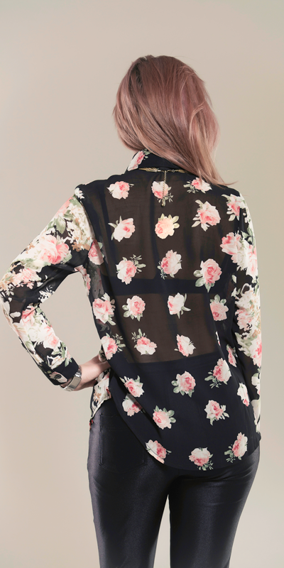 Betty Chiffon Floral Shirt