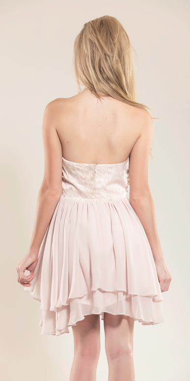 Gala Nude Strapless Dress
